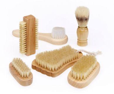Natural Brushes, set of 6
