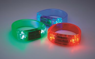 Light-up Gel Bracelets - available in three colours
