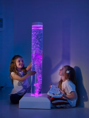 Wire- Free Interactive Bubble Tube Including Button Switch - 1 Metre