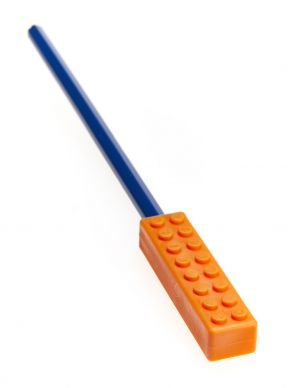 Ark's Brick Stick Chewable Pencil Topper - Orange Firm