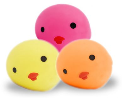 Squeezy Chick Ball - set of 3