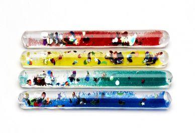 Dinki Glitter Tube Wands, set of 4