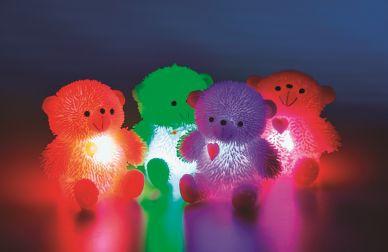 Light-up Teddy Bears Picnic - set of 4