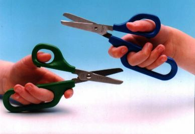Long Loop Scissors - 45mm Round Blade - RIGHT HANDED