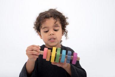 Rainbow Wooden Shape Twister
