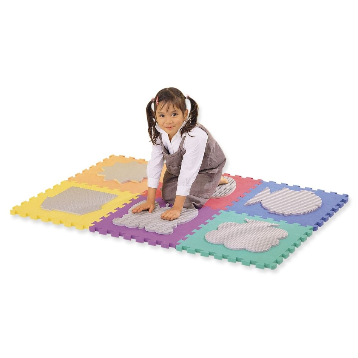 Tactile Square - set of 6 pieces
