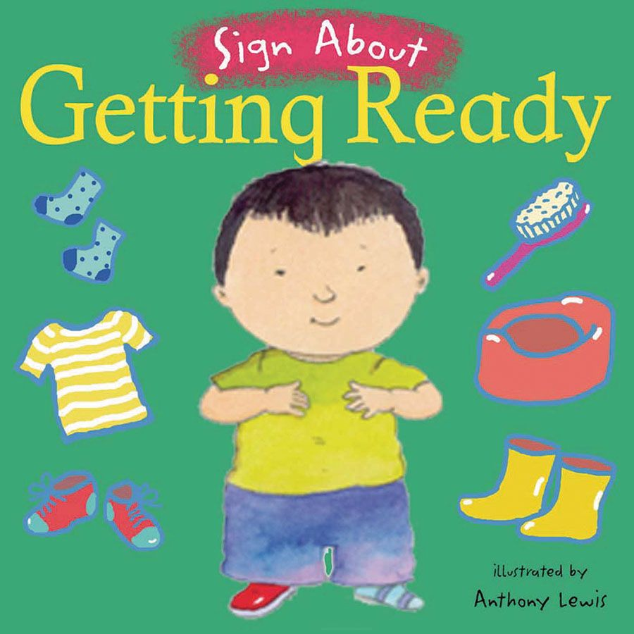 Sign About Getting Ready - Autism toys