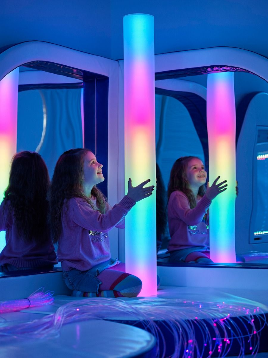 Sensory Colour Column with Vibration & Plinth