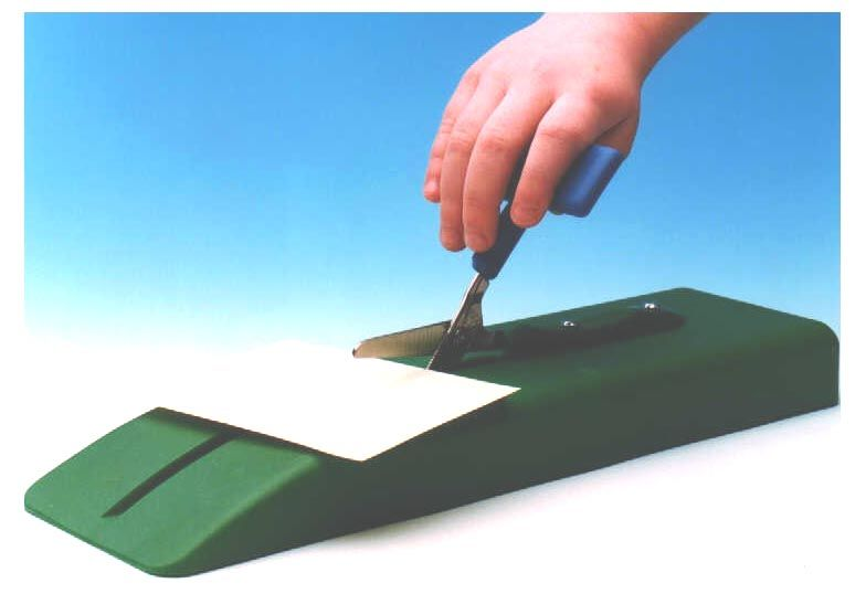 Mounted Table Top Scissors - on Plastic Base