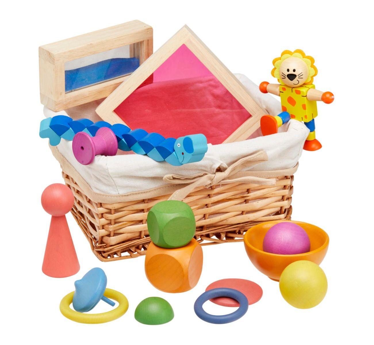 Rainbow Wooden Exploration Basket