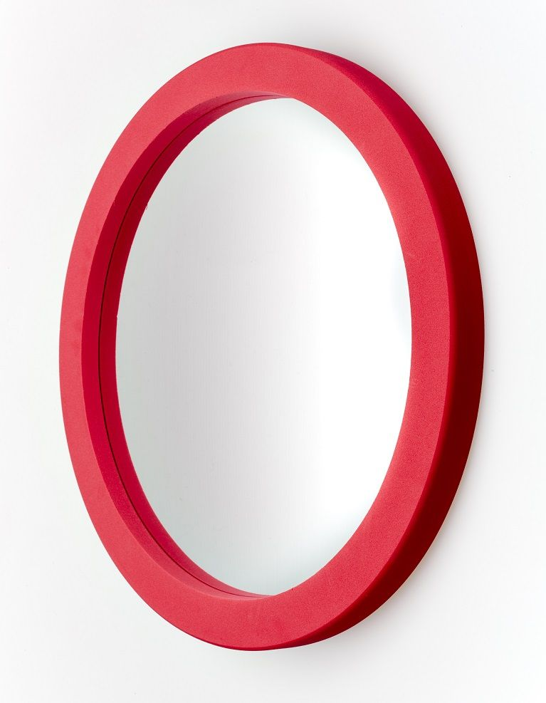 Round Foam Wall Mirror