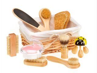 Natural Body Brushes Basket