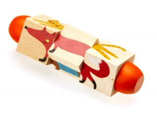 Wooden Animal Twisty Puzzle, set of 2