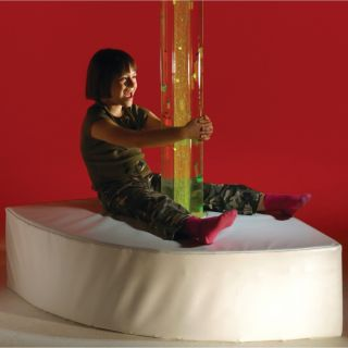 Corner Bubble Tube Plinth - Available in various sizes