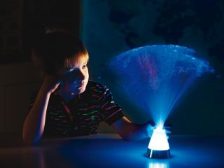 Fibre Optic Ice Lamp - switch adapted