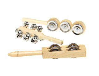 Wooden Bell Sticks - Set of 3