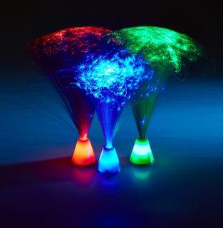 Mini Fibre Optic LED Mushrooms - set of 3