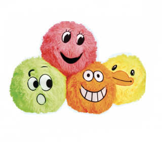 Neon Funny Face Balls  - available in four colours
