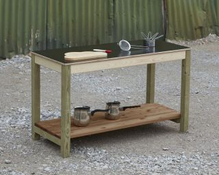 Simple 'anyway table' - ideal alongside a mud kitchen